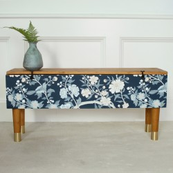 Wallpapered bench by Prettypegs