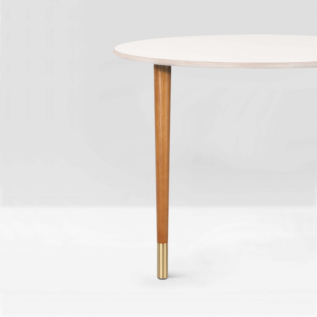 Coffee Table Leg Ash Wood Br Toe Estelle Slim 480